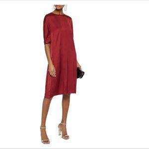 NWT Max Mara Gathered satin-crepe dress